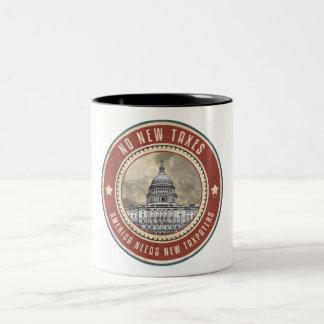 No New Taxes Two-Tone Coffee Mug