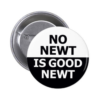 No Newt Is Good Newt Pinback Buttons