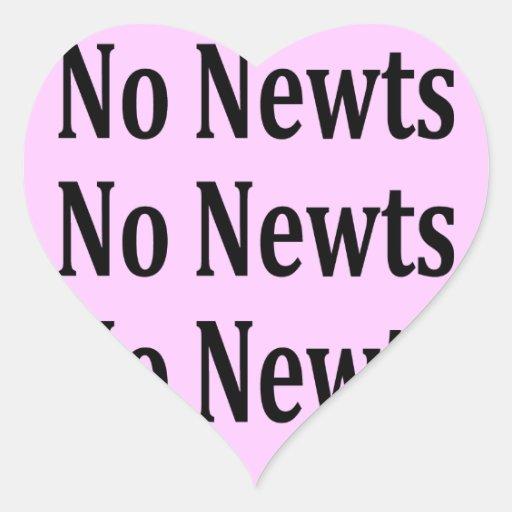 No Newts No Newts No Newts Heart Sticker