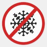 no-nieve etiquetas redondas