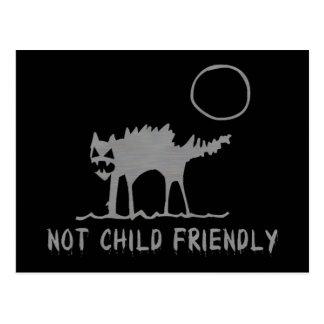 No niño amistoso postal