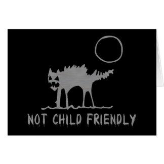 No niño amistoso tarjeta de felicitación