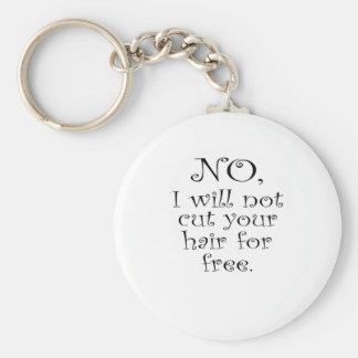 No, no cortaré su pelo gratis llavero redondo tipo pin