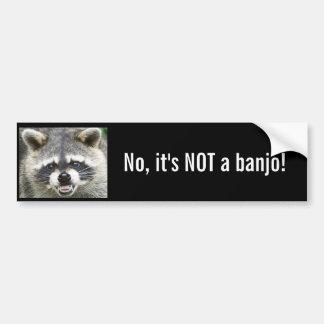 ¡No, no es un banjo! Etiqueta De Parachoque