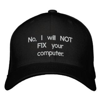 No, NO FIJARÉ su gorra bordado ordenador Gorra Bordada