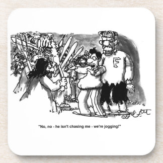 """""""No, no - he isn't chasing me- we're jogging!"""" Drink Coasters"""