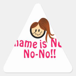 No No-Ningún Pegatina Triangular