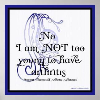 No, no soy poster demasiado joven de la artritis r