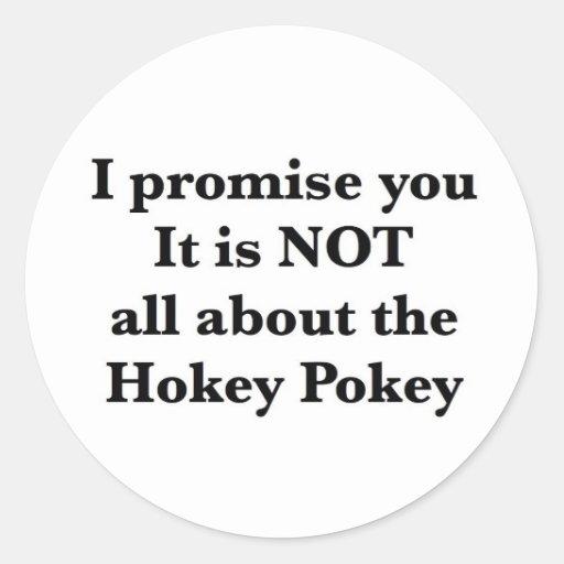 No no todo sobre el Pokey de Hokey Etiquetas Redondas
