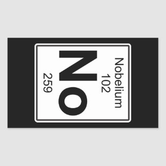 No - Nobelium Rectangular Sticker