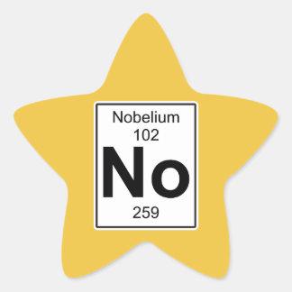 No - Nobelium Star Sticker