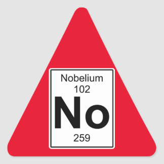 No - Nobelium Triangle Sticker