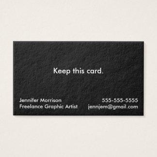 No Nonsense Business Cards