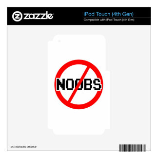 No NOOBS - chat/irc/geek/code monkey/hacker/gamer Skin For iPod Touch 4G