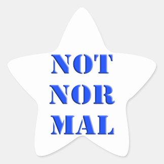 No normal calcomanía forma de estrella