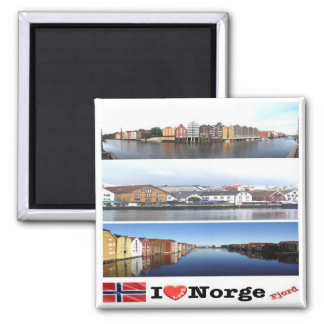 NO - Norway - Norge  - I Love - Collage Mosaic Magnet