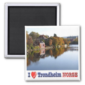 NO - Norway - Trondheim - I Love - Collage Mosaic Magnet