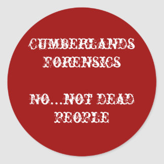 no not dead people classic round sticker
