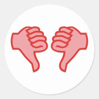 no not dedo pulgar OK thumbs down