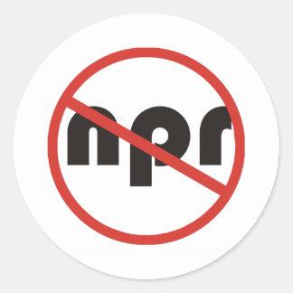 No NPR Classic Round Sticker