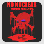 NO NUCLEAR 2 正方形シールステッカー