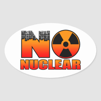 NO NUCLEAR 4 OVAL STICKER