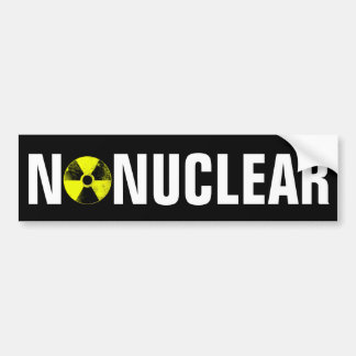 No nuclear bumper sticker