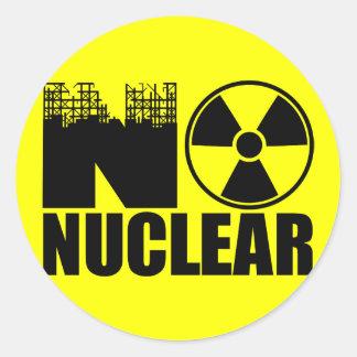 NO NUCLEAR MONO STICKER