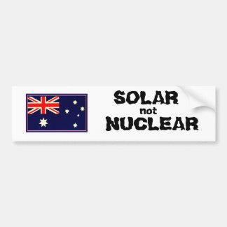 NO NUCLEAR SOLAR PEGATINA DE PARACHOQUE