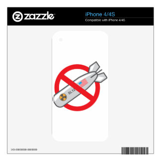 No Nuclear War Decals For iPhone 4