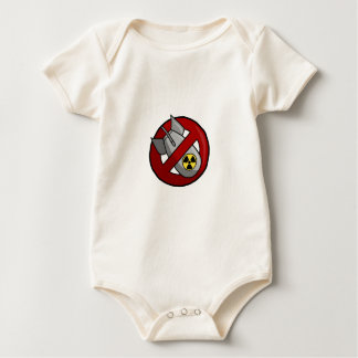 No nuclear weapons baby bodysuit