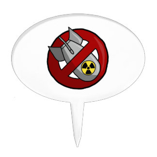 No nuclear weapons cake topper