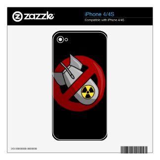 No nuclear weapons iPhone 4S decal