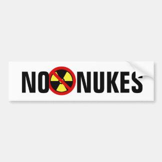 No Nukes Car Bumper Sticker