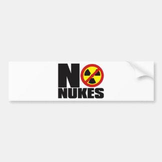 NO_NUKES BUMPER STICKER