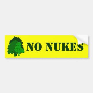 No Nukes Green Trees Custom Bumper Sticker