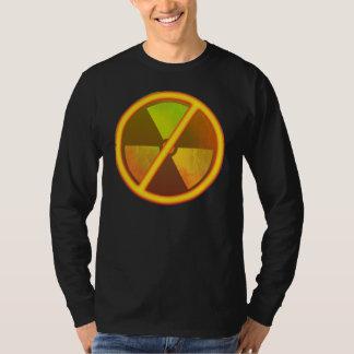 No Nukes Radioactive Grunge Anti-Nuke Symbol Tee