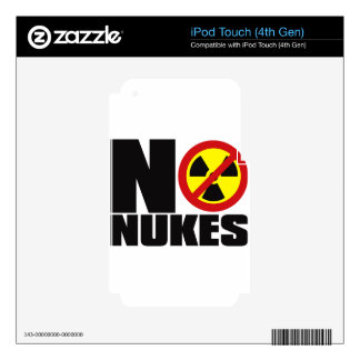 NO_NUKES SKIN FOR iPod TOUCH 4G