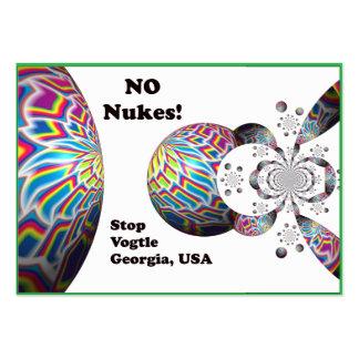 NO Nukes! Stop Vogtle Georgia, USA Business Card