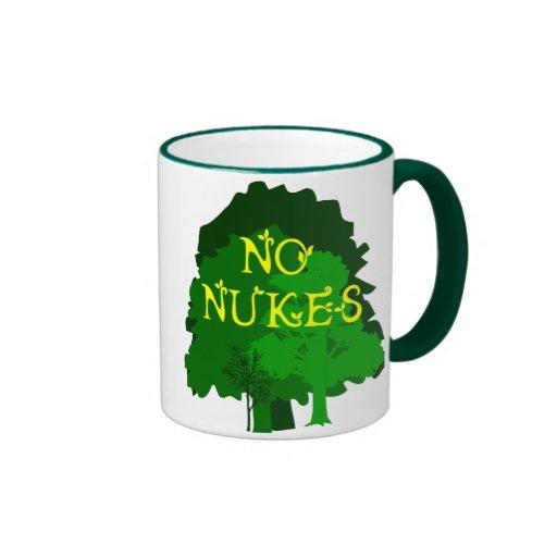 No Nukes with Green Trees Coffee Mug