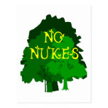 No Nukes with Green Trees Saying Post Cards