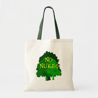 No Nukes with Green Trees Tote