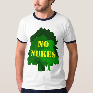 No Nukes with Trees anti-nuclear saying T-shirt