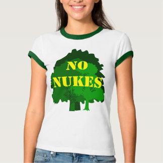 No Nukes with Trees Custom Anti Nuclear Slogan T-Shirt