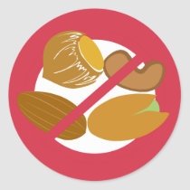 No Nuts Food Allergy Alert Stickers