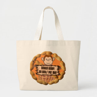 No Nuts for Me Large Tote Bag