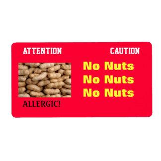 No Nuts Label