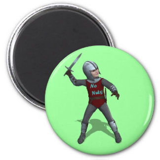 No Nuts little Knight Magnet