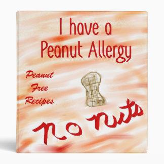 No Nuts Recipe Binder for Peanut Allergies