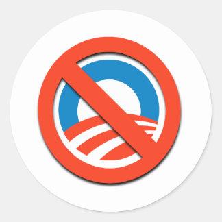 NO O ningún Obama Etiqueta